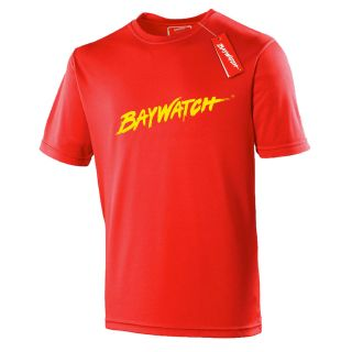 LICENSED BAYWATCH ® RED COOLTEX T-SHIRT